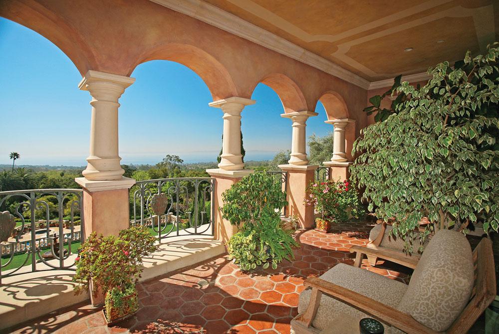 Mediterranean Hillside Villa Montecito California