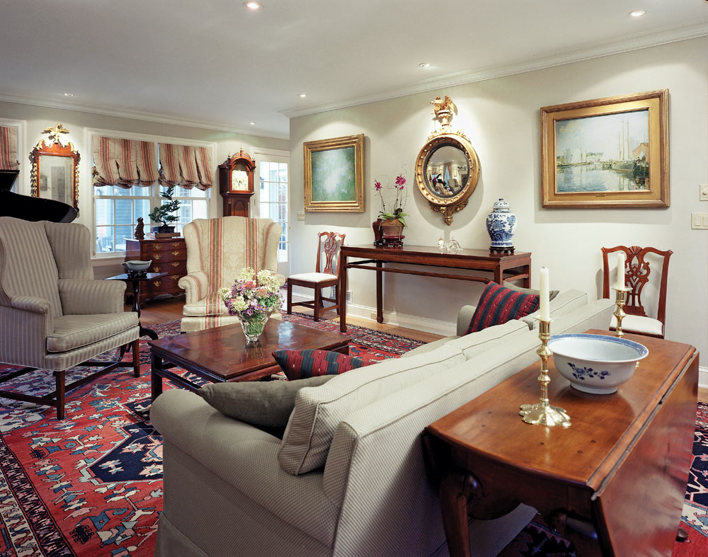 1930s colonial revival living room