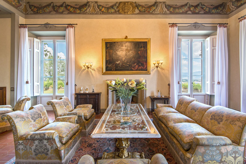 Villa antinori di monte aguglioni tuscany near florence for Ville lussuose interni