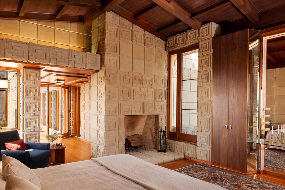interior of a home the ennis house frank lloyd wright los angeles 18972
